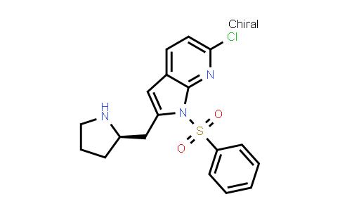 1001070-22-9 | 1H-Pyrrolo[2,3-b]pyridine, 6-chloro-1-(phenylsulfonyl)-2-[(2R)-2-pyrrolidinylmethyl]-