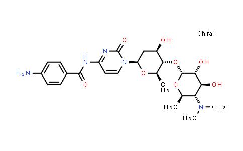 100108-92-7 | Benzamide, 4-amino-N-[1-[2,6-dideoxy-4-O-[4,6-dideoxy-4-(dimethylamino)-α-D-glucopyranosyl]-β-D-arabino-hexopyranosyl]-1,2-dihydro-2-oxo-4-pyrimidinyl]-