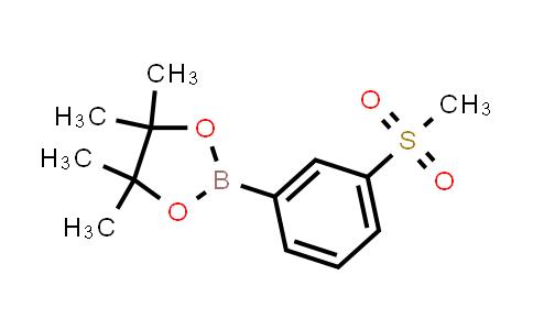 1001185-88-1 | 4,4,5,5-Tetramethyl-2-(3-(methylsulfonyl)phenyl)-1,3,2-dioxaborolane