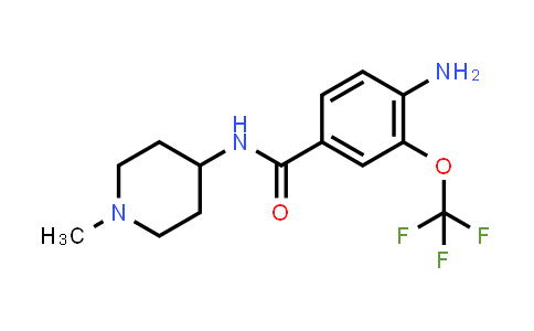 1001346-04-8 | 4-amino-N-(1-methylpiperidin-4-yl)-3-(trifluoromethoxy)benzamide
