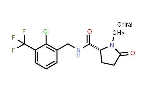 1001390-06-2 | (2R)-N-{[2-chloro-3-(trifluoromethyl)phenyl]methyl}-1-methyl-5-oxopyrrolidine-2-carboxamide
