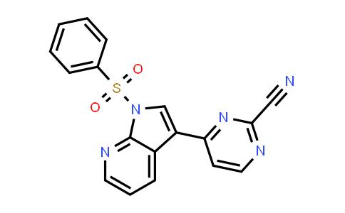 1001413-72-4 | 2-Pyrimidinecarbonitrile, 4-[1-(phenylsulfonyl)-1H-pyrrolo[2,3-b]pyridin-3-yl]-