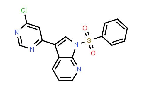 1001413-78-0 | 1H-Pyrrolo[2,3-b]pyridine, 3-(6-chloro-4-pyrimidinyl)-1-(phenylsulfonyl)-