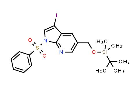 1001413-97-3 | 1H-Pyrrolo[2,3-b]pyridine, 5-[[[(1,1-dimethylethyl)dimethylsilyl]oxy]methyl]-3-iodo-1-(phenylsulfonyl)-