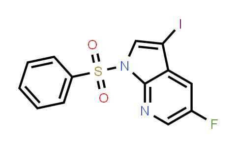 1001413-99-5 | 1-(Benzenesulfonyl)-5-fluoro-3-iodo-1H-pyrrolo[2,3-b]pyridine