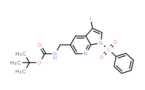 1001414-13-6 | tert-Butyl ((3-iodo-1-(phenylsulfonyl)-1H-pyrrolo[2,3-b]pyridin-5-yl)methyl)carbamate