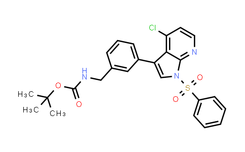 1001414-51-2 | Carbamic acid, N-[[3-[4-chloro-1-(phenylsulfonyl)-1H-pyrrolo[2,3-b]pyridin-3-yl]phenyl]methyl]-, 1,1-dimethylethyl ester