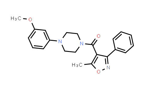 1001603-06-0 | Methanone, [4-(3-methoxyphenyl)-1-piperazinyl](5-methyl-3-phenyl-4-isoxazolyl)-