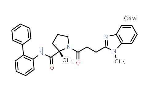 1001617-78-2 | 2-Pyrrolidinecarboxamide, N-[1,1'-biphenyl]-2-yl-2-methyl-1-[3-(1-methyl-1H-benzimidazol-2-yl)-1-oxopropyl]-, (2S)-