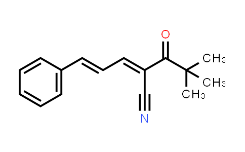 1001755-18-5 | 2,4-Pentadienenitrile, 2-(2,2-dimethyl-1-oxopropyl)-5-phenyl-, (2E,4E)-