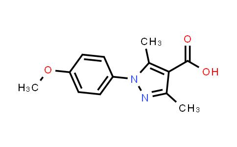 1001779-87-8 | 1H-Pyrazole-4-carboxylic acid, 1-(4-methoxyphenyl)-3,5-dimethyl-