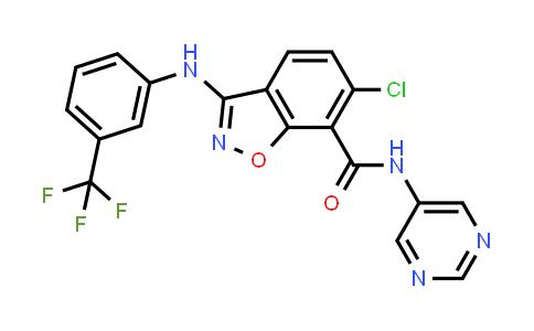 1002106-17-3 | 1,2-Benzisoxazole-7-carboxamide, 6-chloro-N-5-pyrimidinyl-3-[[3-(trifluoromethyl)phenyl]amino]-