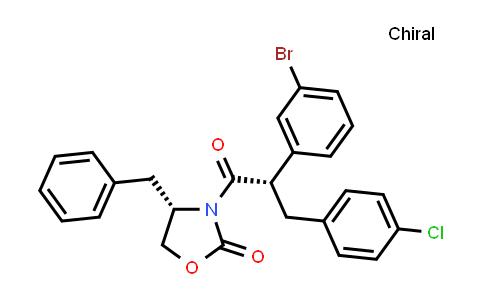 1002752-53-5 | (S)-4-benzyl-3-((S)-2-(3-bromophenyl)-3-(4-chlorophenyl)propanoyl)oxazolidin-2-one