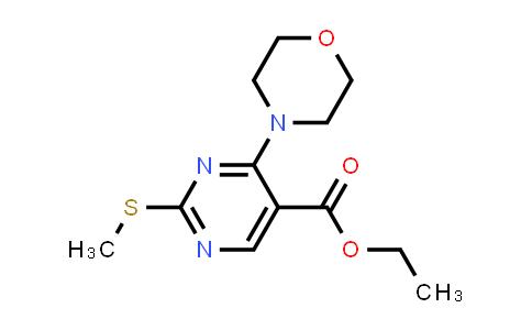 100318-76-1 | 5-Pyrimidinecarboxylic acid, 2-(methylthio)-4-(4-morpholinyl)-, ethyl ester