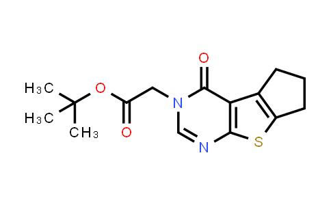 1003209-11-7 | tert-Butyl 2-(4-oxo-4,5,6,7-tetrahydro-3H-cyclopenta[4,5]thieno[2,3-d]pyrimidin-3-yl)acetate