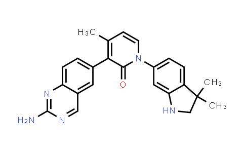 1003311-70-3 | 2(1H)-Pyridinone, 3-(2-amino-6-quinazolinyl)-1-(2,3-dihydro-3,3-dimethyl-1H-indol-6-yl)-4-methyl-