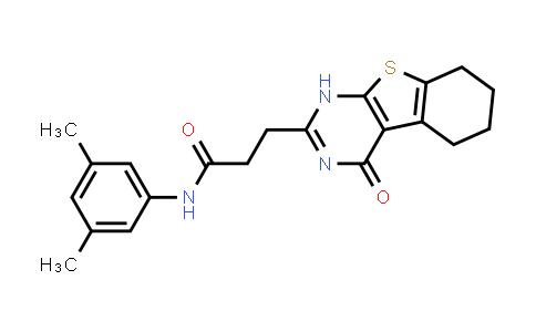 1003736-23-9 | [1]Benzothieno[2,3-d]pyrimidine-2-propanamide, N-(3,5-dimethylphenyl)-1,4,5,6,7,8-hexahydro-4-oxo-