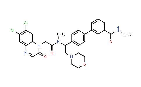 1003876-84-3 | 1(2H)-Quinoxalineacetamide, 6,7-dichloro-N-methyl-N-[1-[3'-[(methylamino)carbonyl][1,1'-biphenyl]-4-yl]-2-(4-morpholinyl)ethyl]-2-oxo-