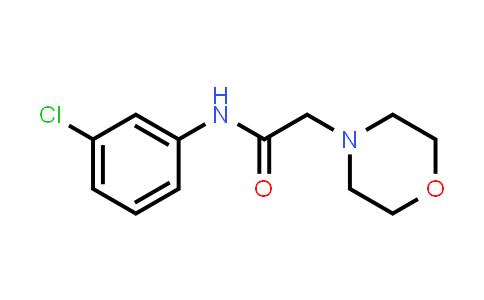 100388-40-7 | 4-Morpholineacetamide, N-(3-chlorophenyl)-