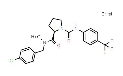 1003882-41-4 | 1,2-Pyrrolidinedicarboxamide, N2-[(4-chlorophenyl)methyl]-N2-methyl-N1-[4-(trifluoromethyl)phenyl]-, (2R)-