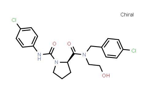 1003883-60-0 | 1,2-Pyrrolidinedicarboxamide, N1-(4-chlorophenyl)-N2-[(4-chlorophenyl)methyl]-N2-(2-hydroxyethyl)-, (2R)-
