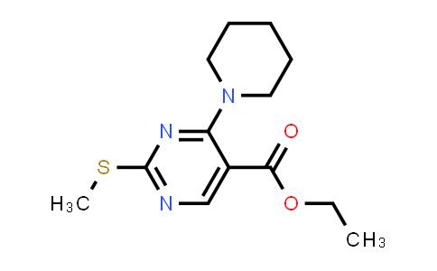 100451-24-9 | 5-Pyrimidinecarboxylic acid, 2-(methylthio)-4-(1-piperidinyl)-, ethyl ester
