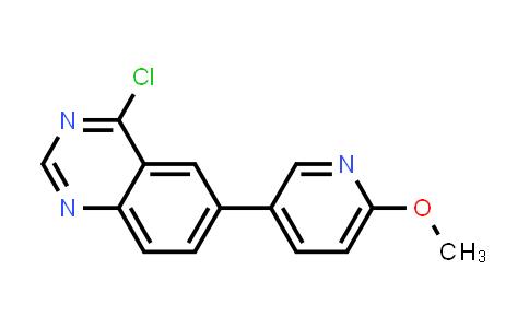 1005009-91-5 | 4-Chloro-6-(6-methoxy-3-pyridyl)quinazoline