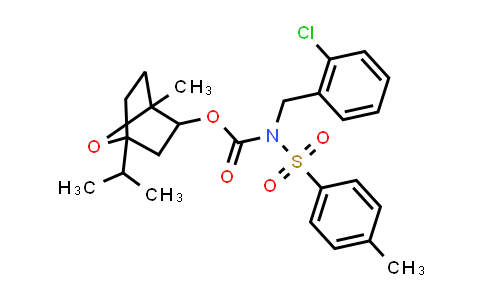 1005035-27-7 | Carbamic acid, N-[(2-chlorophenyl)methyl]-N-[(4-methylphenyl)sulfonyl]-, 1-methyl-4-(1-methylethyl)-7-oxabicyclo[2.2.1]hept-2-yl ester