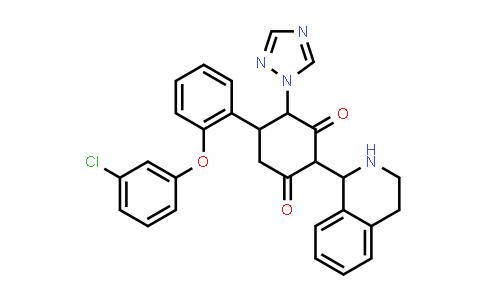 1005039-85-9 | 1,3-Cyclohexanedione, 5-[2-(3-chlorophenoxy)phenyl]-2-(1,2,3,4-tetrahydro-1-isoquinolinyl)-4-(1H-1,2,4-triazol-1-yl)-
