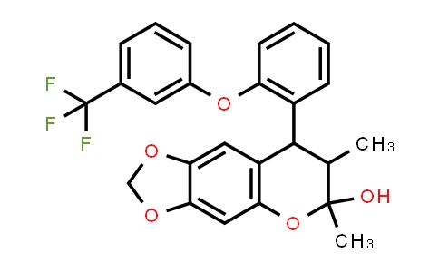 1005047-31-3 | 6H-1,3-Dioxolo[4,5-g][1]benzopyran-6-ol, 7,8-dihydro-6,7-dimethyl-8-[2-[3-(trifluoromethyl)phenoxy]phenyl]-