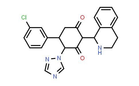 1005068-80-3 | 1,3-Cyclohexanedione, 5-(3-chlorophenyl)-2-(1,2,3,4-tetrahydro-1-isoquinolinyl)-4-(1H-1,2,4-triazol-1-yl)-