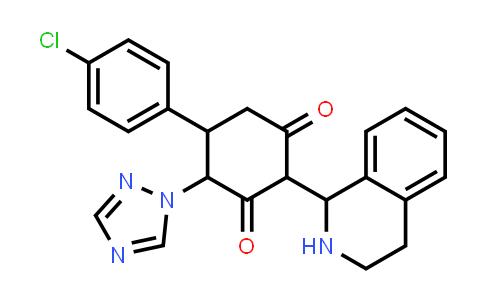 1005068-84-7 | 1,3-Cyclohexanedione, 5-(4-chlorophenyl)-2-(1,2,3,4-tetrahydro-1-isoquinolinyl)-4-(1H-1,2,4-triazol-1-yl)-