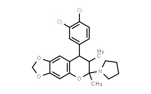 1005106-24-0 | Pyrrolidine, 1-[8-(3,4-dichlorophenyl)-7,8-dihydro-6,7-dimethyl-6H-1,3-dioxolo[4,5-g][1]benzopyran-6-yl]-