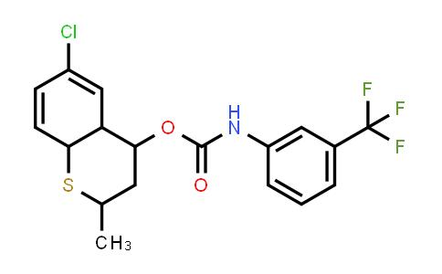 1005106-79-5 | Carbamic acid, N-[3-(trifluoromethyl)phenyl]-, 6-chloro-3,4,4a,8a-tetrahydro-2-methyl-2H-1-benzothiopyran-4-yl ester
