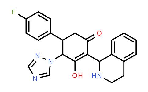 1005106-96-6 | 2-Cyclohexen-1-one, 5-(4-fluorophenyl)-3-hydroxy-2-(1,2,3,4-tetrahydro-1-isoquinolinyl)-4-(1H-1,2,4-triazol-1-yl)-