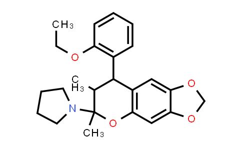 1005116-71-1 | Pyrrolidine, 1-[8-(2-ethoxyphenyl)-7,8-dihydro-6,7-dimethyl-6H-1,3-dioxolo[4,5-g][1]benzopyran-6-yl]-