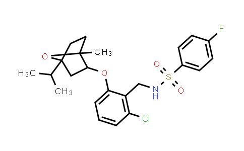 1005118-19-3   Benzenesulfonamide, N-[[2-chloro-6-[[1-methyl-4-(1-methylethyl)-7-oxabicyclo[2.2.1]hept-2-yl]oxy]phenyl]methyl]-4-fluoro-