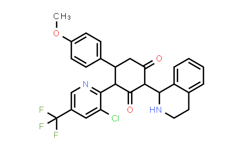 1005123-60-3 | 1,3-Cyclohexanedione, 4-[3-chloro-5-(trifluoromethyl)-2-pyridinyl]-5-(4-methoxyphenyl)-2-(1,2,3,4-tetrahydro-1-isoquinolinyl)-