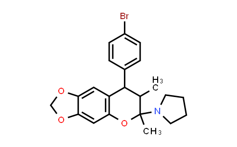 1005150-37-7 | Pyrrolidine, 1-[8-(4-bromophenyl)-7,8-dihydro-6,7-dimethyl-6H-1,3-dioxolo[4,5-g][1]benzopyran-6-yl]-