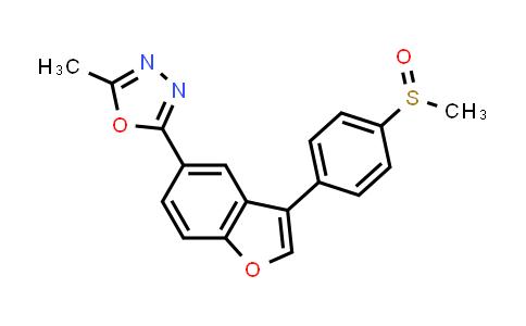1005201-24-0 | 1,3,4-Oxadiazole, 2-methyl-5-[3-[4-(methylsulfinyl)phenyl]-5-benzofuranyl]-