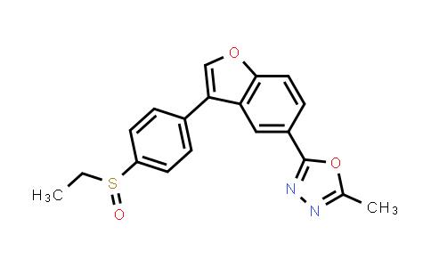 1005202-76-5 | 1,3,4-Oxadiazole, 2-[3-[4-(ethylsulfinyl)phenyl]-5-benzofuranyl]-5-methyl-