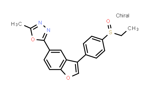 1005203-17-7 | (S)-5-Methyl-2-[3-[4-(Ethylsulfinyl)phenyl]benzofuran-5-yl]-1,3,4-oxadiazole