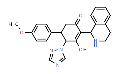 1005273-39-1 | 2-Cyclohexen-1-one, 3-hydroxy-5-(4-methoxyphenyl)-2-(1,2,3,4-tetrahydro-1-isoquinolinyl)-4-(1H-1,2,4-triazol-1-yl)-