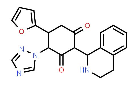 1005273-48-2 | 1,3-Cyclohexanedione, 5-(2-furanyl)-2-(1,2,3,4-tetrahydro-1-isoquinolinyl)-4-(1H-1,2,4-triazol-1-yl)-