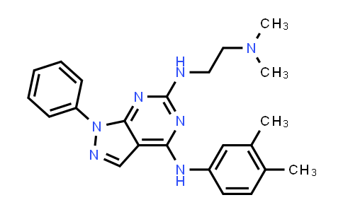 1005307-86-7 | 1H-Pyrazolo[3,4-d]pyrimidine-4,6-diamine, N6-[2-(dimethylamino)ethyl]-N4-(3,4-dimethylphenyl)-1-phenyl-