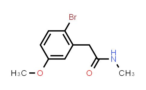1005346-97-3 | Benzeneacetamide, 2-bromo-5-methoxy-N-methyl-