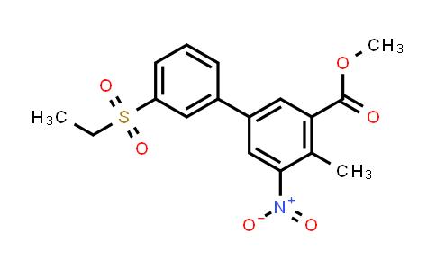 1005499-49-9 | Methyl 3'-(ethylsulfonyl)-4-methyl-5-nitrobiphenyl-3-carboxylate
