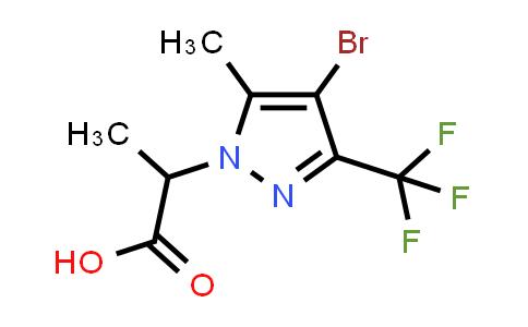 1005584-44-0 | 2-(4-Bromo-5-methyl-3-(trifluoromethyl)-1H-pyrazol-1-yl)propanoic acid