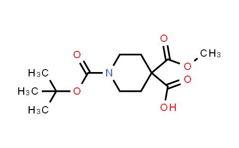 1005738-45-3 | 1-[(Tert-butoxy)carbonyl]-4-(methoxycarbonyl)piperidine-4-carboxylic acid