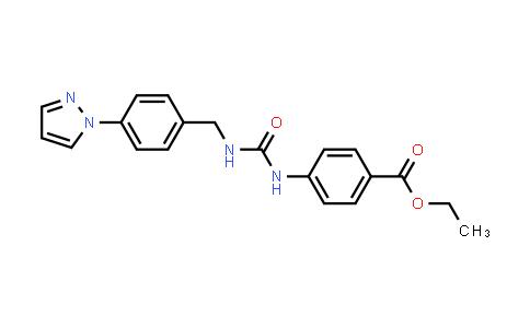 1005883-72-6   Ethyl 4-[(4-pyrazol-1-ylphenyl)methylcarbamoylamino]benzoate